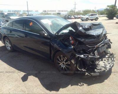 Salvage Dark Blue 2016 Chevrolet Malibu
