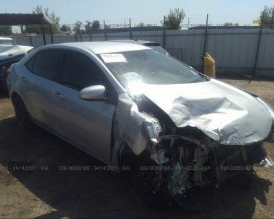 Salvage Silver 2017 Toyota Corolla