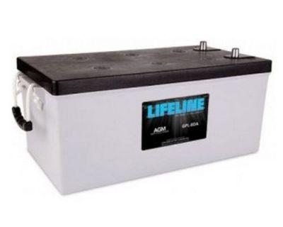 A Pair Of Lifeline Gpl-8da Agm Deep Cycle Marine / Rv Batteries 255ah