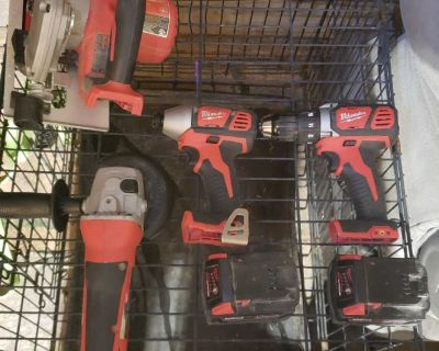 Lightly used Milwaukee tools for sale