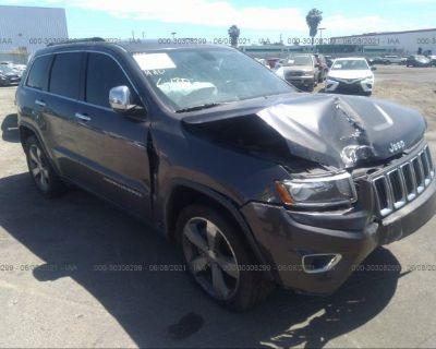 Salvage Gray 2014 Jeep Grand Cherokee