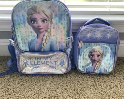 Frozen backpack w/ matching lunchbox