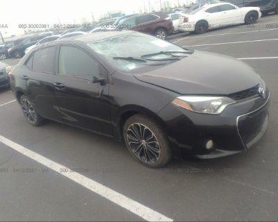 Salvage Black 2015 Toyota Corolla