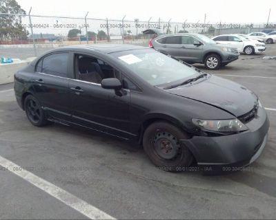 Salvage Black 2007 Honda Civic Sdn