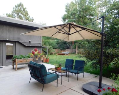 Large Yard, Garden, and Patio of a Mid-Century Home, Denver, CO