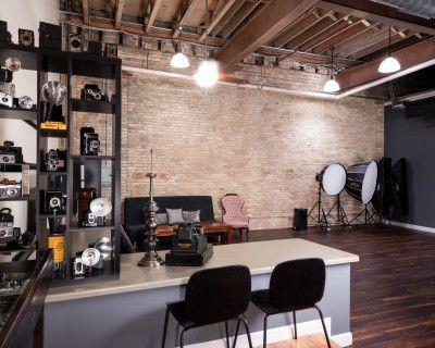 Historic Third Ward Photography Studio with Cream City Brick & Dominican Walnut Floors, Milwaukee, WI