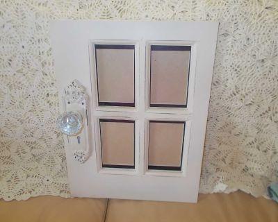 Hanging door picture frame