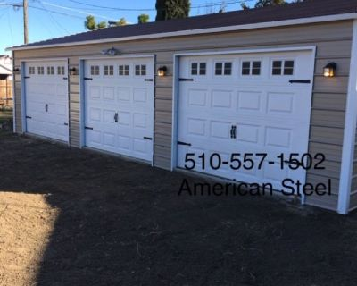 AMERICAN STEEL ALL METAL GARAGE'S SHOP'S RV BOAT & CAR COVER'S