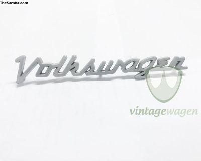 VW Italic Emblem, Chrome, Matte and Brazed Version