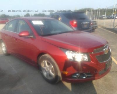Salvage Maroon 2012 Chevrolet Cruze