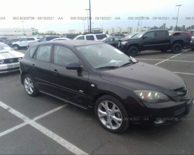 Salvage Black 2007 Mazda Mazda3