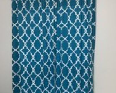 Curtains Teal 2 sets of 2 panels each