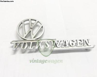 VW Fender Emblem VOLKSWAGEN Chromed Version