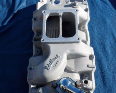 Bbc Edelbrock C454 Intake 454 427 Chevy Corvette Great Condition Dominator