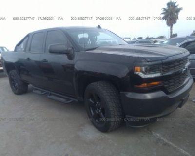 Salvage Black 2016 Chevrolet Silverado 1500