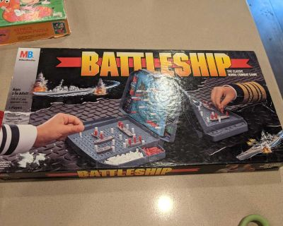 Old board games or family games battleship and pit $10 each