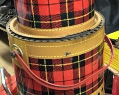Cool camper or car plaid scotch koolers and grill