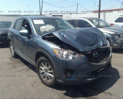 Salvage Blue 2015 Mazda Cx-5