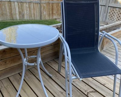 2 Chair & Glass table patio set