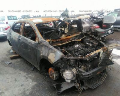 Salvage Black 2017 Toyota Corolla