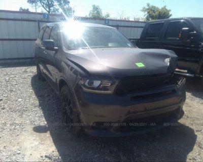 Salvage Black 2019 Dodge Durango