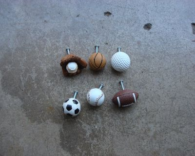SIX SPORT RELATED DRAWER KNOBS