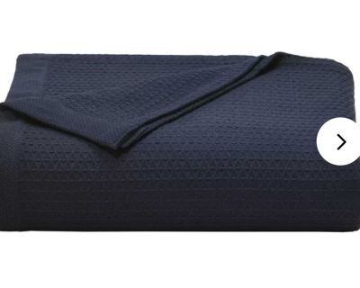 Navy bed cover