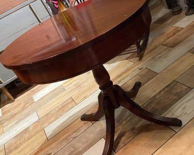 Antique Wood Side or Bistro Table