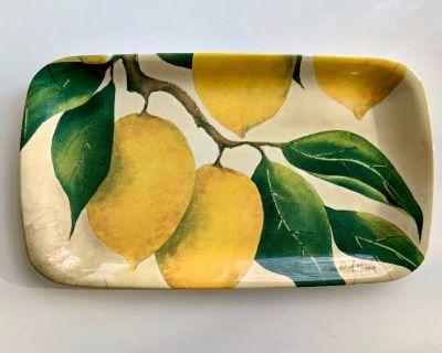 """Pimpernel Orchard Lemon 14"""" x 8"""" Melamine Serving Tray"""