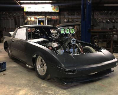 Mazda RX-7 Bodied round tube chassis drag car roller or turn