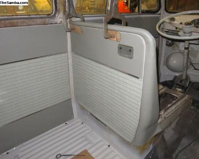 Sewn seat bulkhead covers for w/t microbus 63-67