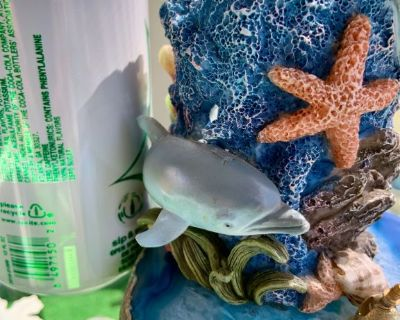 Candle in the Ocean w/ Blue Agate Stone Base