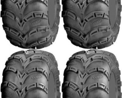 Four 4 Itp Mud Lite At Atv Tires Set 2 Front 23x8-11 & 2 Rear 25x12-9 Mudlite