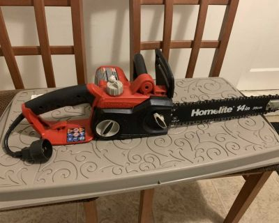 Homelite 14 electric chainsaw
