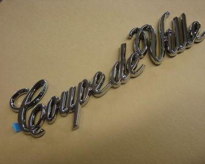Nos Cadillac Coupe Deville Nameplate Emblem 84 85 86 87 88 89 90 91 92 93 Chrome