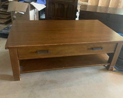 Pottery Barn coffee table w drawer