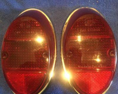 German taillight lens & rings 62-67 bug