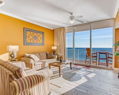 Gulf Front Condo W/views, Shared In/outdoor Pools, Hot Tub, Gym, High-speed Wifi - Panama City Beach
