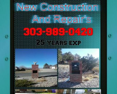 Brick Block and Stone New Construction and Repairs (303) 989-0420