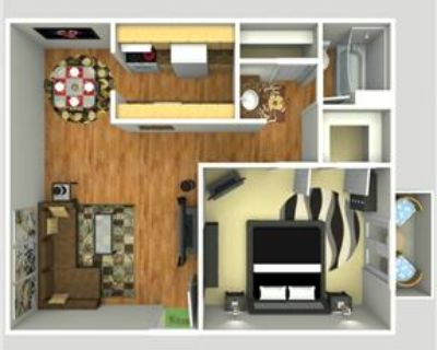 1 bedroom with W/D connections!