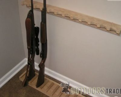FS/FT Brand New Solid Oak 20-Gun Closet Gun Rack w/ Floor Rest