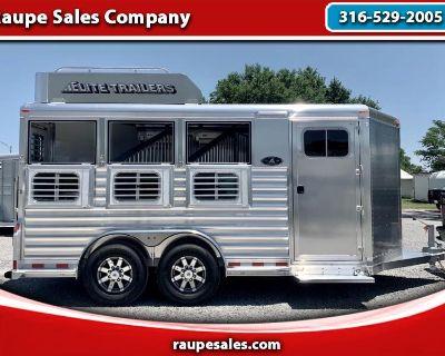 2022 Elite 3 Horse Trailer Bumper Pull - Hay Rack - Ramp - All Drop Downs - E