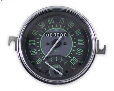 ISP Vintage Series 120 MPH Speedometer w/Gas Gauge