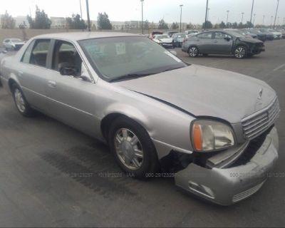 Salvage Silver 2004 Cadillac Deville