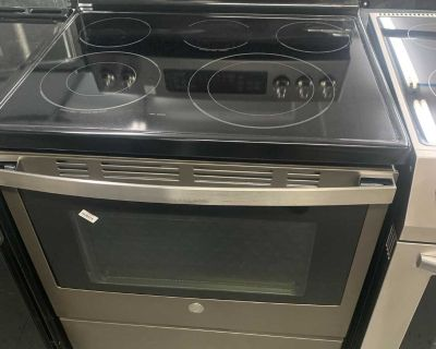 GE 30-inch 5.0 cu.ft. Single Oven Electric Range with Self-Cleaning Convection Oven in Slate
