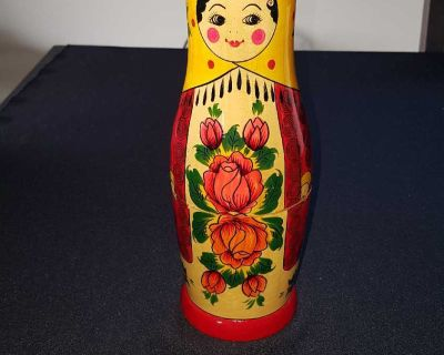 Painted Russian wood doll
