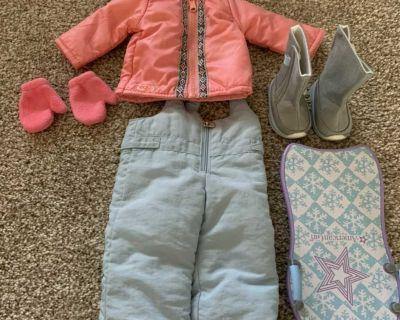 18 doll winter outfit and sled