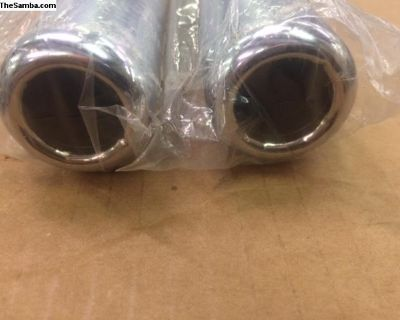 1 new pair exhaust tips (pea shooters)