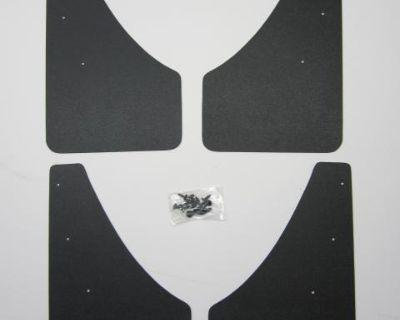 Rabbit Truck water/mud flaps Black ABS 4x CADDY