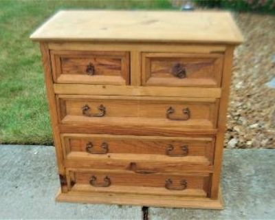 5 drawer dresser - can be used as is or easily refinished